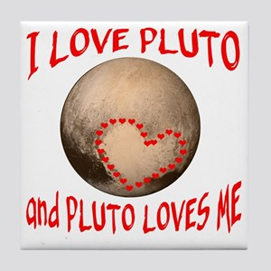 I LOVE PLUTO Tile Coaster